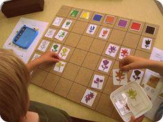 matrixbord kleuren en bloemen