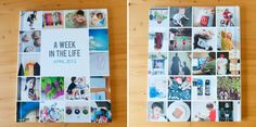 A week in the life photobook - Love this idea!! i think i would use it for a trip