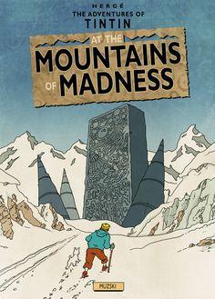 Herge/Lovecraft Adventures of Tintin vs Cthulu!!!