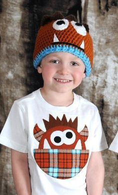 Plaid Goofy Monster TShirt by eed953 on Etsy, $18.00