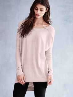 Slouchy Boatneck Sweater - Victoria's Secret. Bare all. Small