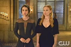 """Reign -- """"Liege Lord"""" -- Image Number: RE117b_0204.jpg -- Pictured (L-R): Adelaide Kane as Mary, Queen of Scots and Celina Sinden as Greer -- Photo: Sven Frenzel/The CW -- © 2014 The CW Network, LLC. All rights reserved."""