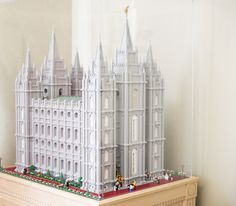 Salt Lake Temple Built With Over 35,000 Legos By National Guard Member