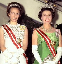 Princess Anne and her mother