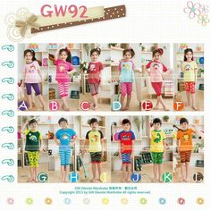 GW92 SHORT PYJAMAS (BORDIR)  SIZE 95-140 FIT TO 2T-7T