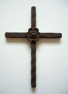 "Cross hand made from solid 9/16"" welded steel. By jtwfabrication on Etsy."