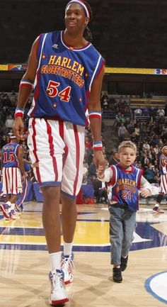 Get your Harlem Globetrotters #54 Stretch jersey here.  Don't worry, it comes in more sizes than XXXXXXXL.