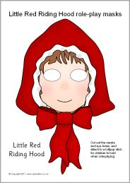 Little Red Riding Hood role-play masks from SparkleBox- These masks are free to copy, distribute, display, and perform provided you give SparkleBox credit, acknowledging www.sparklebox.co.uk as the source; and it is not for commercial use. They can be used for creating a digital version of the tale with a video creator app.