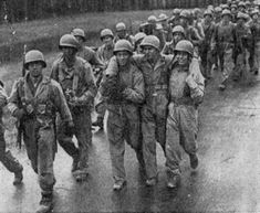 The men of Easy Company on a grueling march from Camp Toccoa to Atlanta.