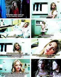 Ali visiting Hanna in hospital... - Pretty Little Liars