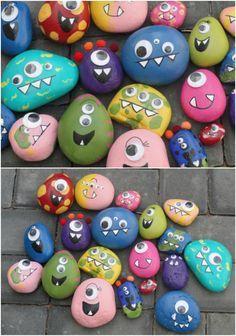 Monster Rocks - kids crafts!