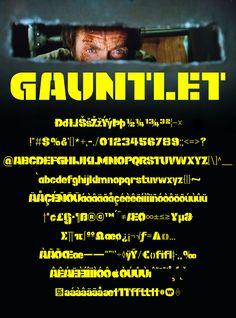 Download another cool and eclectic GAUTFONT Gauntlet – 270 glyphs - 4 weights #GautFonts #ClintEastwood Pat Hingle, Thriller Film, Clint Eastwood, Glyphs, Weights, Stencils, Cool Stuff, Templates, Stenciling
