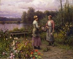 The Athenaeum - The Gossips (Daniel Ridgway Knight - )