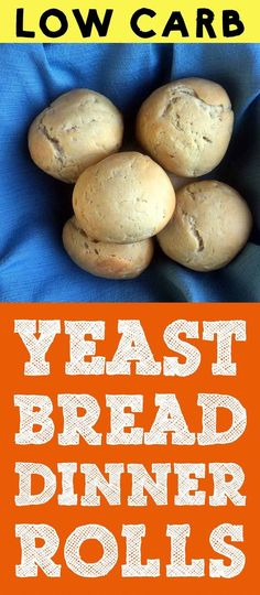 These Low Carb Yeast Bread Dinner Rolls are made from real yeast bread. They hav… These Low Carb Yeast Bread Dinner Rolls are made from real yeast bread. They have a slightly sweet taste and a great texture. And each roll has just net carbs. Keto Bread Coconut Flour, Keto Flour, Keto Banana Bread, Almond Flour, Sugar Bread, Almond Bread, Almond Milk, Blueberry Bread, Easy Low Carb Bread Recipe
