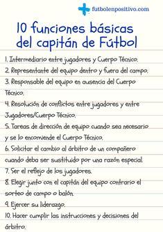 Ser capitán de Fútbol en un equipo es más que ser un representante del equipo, hacer el sorteo con el capitán del otro equipo para elegir campo o balón, firmar el acta antes del inicio del partido o llevar el brazalete que le diferencia de los demás.