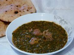 Ägyptisches Rezept für Spinat mit Linsen und Tomatensoße entweder vegan und vegetarisch oder mit Fleisch