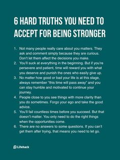 6 Brutal Truths Mentally Strong People Realize Early In Life