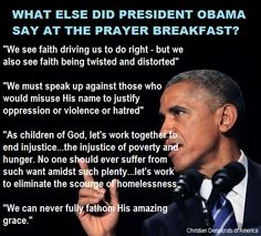 So after the freak-out over truthful comments at the #PrayerBreakfast about how religion has been used to justify horrendous acts for centuries, let's take a look at what else #PresidentObama actually said!