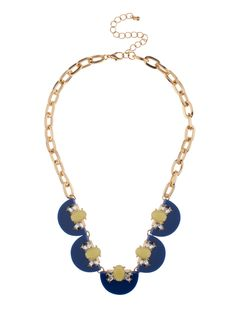 Shop Prima Donna - Demi Circle Stone Strand Necklace Navy