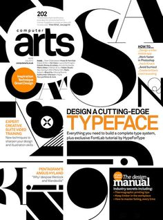 Design a cutting edge typeface
