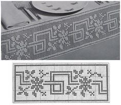 ideas for knitting charts patterns quilts Filet Crochet Charts, Crochet Borders, Crochet Cross, Crochet Art, Crochet Diagram, Knitting Charts, Crochet Motif, Crochet Doilies, Crochet Patterns