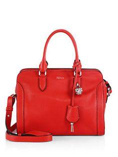 Alexander McQueen - Padlock Small Zip Satchel Tote Purse, Clutch Wallet, Alexander Mcqueen Handbags, Purse Organization, Business Fashion, Travel Bags, Me Too Shoes, Color Pop, Satchel