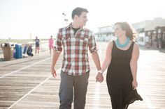 Ocean City New Jersey Boardwalk Engagement Session // alison dunn photography