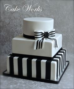 Simple Black and White Wedding