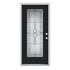 Therma-Tru Benchmark Doors 3/4-Lite Decorative Mahogany Outswing ...