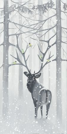 "Gicleè print ""Entangled"" W: Winter Painting, Giclee Print, Moose Art, Pictures, Paintings, Animals, Navidad, Photos, Animales"