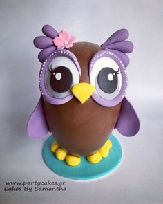 Thinking about Easter Desserts? You'd fall in love with these Chocolate Easter Desserts Recipes. Here are some of the best Chocolate Easter desserts for you Chocolates, Chocolate Fondant, Easter Chocolate, Chocolate Bowls, Paletas Chocolate, Owl Cakes, Fondant Animals, Chocolate Sculptures, Chocolate Decorations