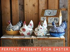 Emma Bridgewater Rooster covered dishes