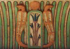 THE PYTHIAN TEMPLE - Lincoln Square neighborhood, Upper West Side, Manhattan, New York City, NY #knightsofpythias #artdeco #egyptianrevival #temple #geometric #snake #serpent #cobra #cartouche #sun #green #orange #painted #detail #capital #architecture #sculpture #art #history #mythology #neoclassical #manhattan #upperwestside #lincolnsquare #newyork #nyc #ny #symbol #hrd #nikon
