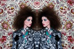"""inspired by """"Pattern Play"""" week, fashion photography, paisley, floral, Thakoon, video editorial"""