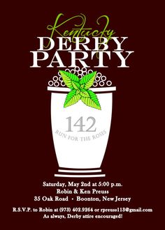 Mint Julep Cup Invitation Kentucky Derby  by AdorableInvitations