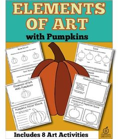 This pumpkin themed elements of art activity includes *8 pumpkin art projects and a pumpkin writing activity!