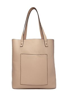 Versatile Faux Leather Tote | FOREVER 21 - 1000072012