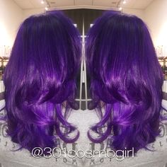 More hair goals using pravana vivids! I used pravana violet, wild orchid, and magenta to achieve this perfect purple! Hair by @301cosmogirl