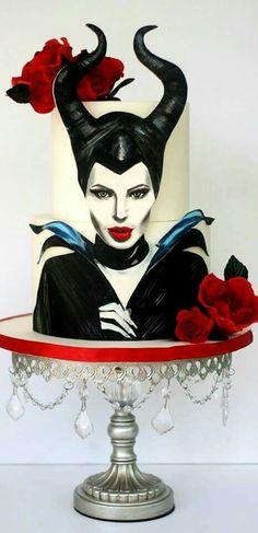 Disney Maleficent cake