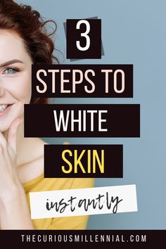 I am going to show you how to whiten skin fast at home and get that fair, glowing, and super soft skin instantly in 3 easy steps. Oily Skin Remedy, Oily Skin Care, Healthy Skin Care, Fair Skin Home Remedies, Dry Skin, Face Care Tips, Skin Care Tips, Skin So Soft, Skin Tips