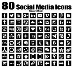 80 new Square social media icons