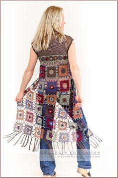 New crochet project Long Vest with Fringe.