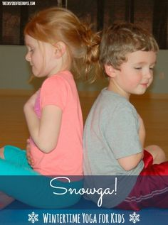 Have your little ones practice meditation and yoga poses with this wintertime yoga sequence for kids!