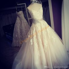 Ballgown Wedding Dresses 2017 with Crystals Sash And Sweetheart Neckline Appliques Tulle Romantic Vestidos De Novia Custom Made 2017 Wedding Dresses Designer Wedding Dresses Vestidos De Novia Online with 189.72/Piece on Uniquebridalboutique's Store | DHgate.com
