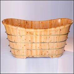 Cedarwood soaking tub