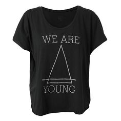 FELDER FELDER 'We Are Young' Cotton T-Shirt ($87) ❤ liked on Polyvore