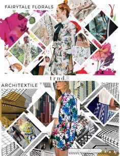 TRNDJR. SS18 Trend Report - Print/Pattern/Graphics {Direction for the Junior and Young Contemporary fashion market levels} Shop the complete report here: http://www.thetrndforecast.com/new-products/trndjr-springsummer-2018-complete-report #trends #trndJR #thetrndforecast #ss18 #junior #youngcontemporary #prints #florals #fairytale #architecture #textiles