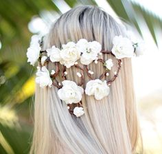 Coroinha de Flores Branco Luz - G.Offer