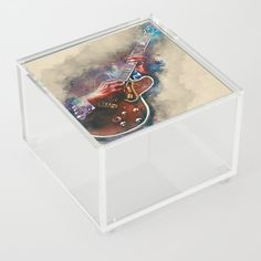 BB King's electric guitar, guitar wall art, studio decor, music room decor, gift for guitarist Acrylic Box by Abraham Szomor - 4 Guitar Wall Art, Guitar Painting, Bb King, Guitar Gifts, Good Advice For Life, Acrylic Box, Cool Artwork, Decorative Boxes, Room Decor