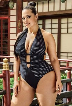 Plus Size Swimsuit - Ashley Graham x Swimsuits For All Shiatsu Swimsuit